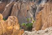 Horské oázy chebika na hranicích sahary, tunisko, afrika — Stock fotografie