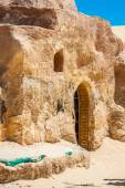 Set for the Star Wars movie still stands in the Tunisian desert  — Stock Photo