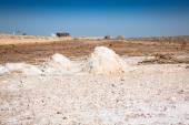 Chott el Djerid (biggest salt lake in north africa), tunisia — Stock Photo
