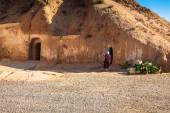 Residential caves of troglodyte in Matmata, Tunisia, Africa — Stock Photo