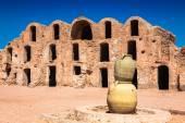 Tunisia. Medenine. Fragment of old Ksar located inside village. — Stock Photo