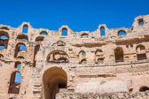 Ruins of the largest colosseum in in North Africa. El Jem,Tunisi — Stock Photo