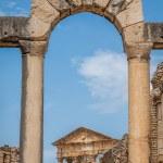 Dougga, Roman Ruins: A Unesco World Heritage Site in Tunisia — Stock Photo #58207923