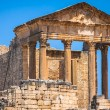 Remaining of the roman City of Dougga with the Capitol, Tunisia — Stock Photo #58209019