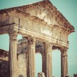 Remaining of the roman City of Dougga with the Capitol, Tunisia — Stock Photo #58209129