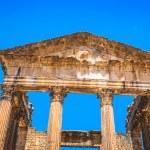 Remaining of the roman City of Dougga with the Capitol, Tunisia — Stock Photo #58209249
