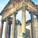 Remaining of the roman City of Dougga with the Capitol, Tunisia — Stock Photo #58209737