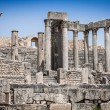Remaining of the roman City of Dougga with the Capitol, Tunisia — Stock Photo #58209891