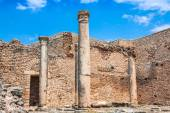 Dougga, Roman Ruins: A Unesco World Heritage Site in Tunisia — Stock Photo