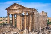 Dougga, Roman Ruins: A Unesco World Heritage Site in Tunisia — Stock Photo