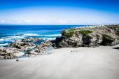 Playa de las Catedrales - Beautiful beach in the north of Spain. — Stock Photo