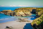 Plaj las catedrales ya da catedrais, ribadeo, Galiçya, İspanya — Stok fotoğraf