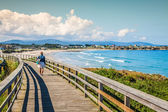 Picturesque landscape with bridge.Ribadeo,Spain — Stock Photo