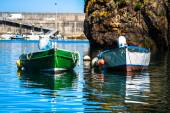 Boats in the fishing port from Cudillero, Asturias, Spain. — Stock Photo