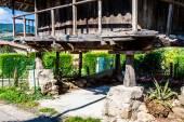 Pravia, old wooden building used as barn. Asturias, Spain — Stock Photo