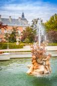 Ornamental fountains of the Palace of Aranjuez, Madrid, Spain. — Stock Photo
