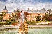 Dekoratif çeşmeler aranjuez, madrid, İspanya Sarayı. — Stok fotoğraf