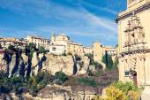 Amazing Spain - city on cliff rocks - Cuenca — Stock Photo