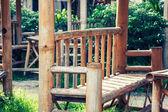 Bamboo bench. — Stock Photo
