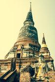 Templo de Wat yai chaimongkol na Tailândia ayutthaya — Fotografia Stock
