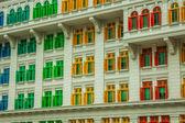 Heritage colourful Windows in Singapore — Zdjęcie stockowe