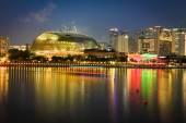 Singapore,December 20,2013:Singapore city at night — Stock Photo