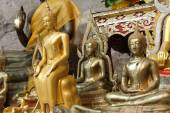 Buddha statues on the tiger cave temple near krabi ,thailand — Stock Photo