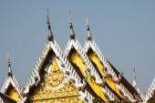 Top part of traditional Thai style architecture — Stock Photo