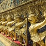Golden Garuda of Wat Phra Kaew at Bangkok, Thailand — Stock Photo #65146483