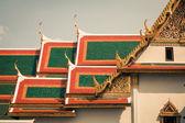 Techo de Wat Phra Kaew, Templo de la Buda de Esmeralda, Bangkok, Th — Foto de Stock