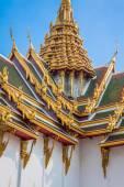 Roof of Wat Phra Kaew, Temple of the Emerald Buddha, Bangkok, Th — Stock Photo