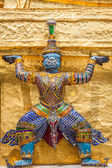 Guards on the base level of stupa in Wat Phra Keo, Thailand — Foto de Stock