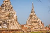 Wat Phrasisanpetch in the Ayutthaya Historical Park, Ayutthaya,  — Stock Photo