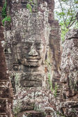 Faces of ancient Bayon Temple At Angkor Wat, Siem Reap, Cambodia — Stock Photo