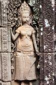 Fresco Angkor Wat Angkor Thom. The ancient ruins of a historic — Stock Photo