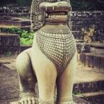 Lion statue on Terrace of the elephants, Angkor Thom, Siemreap — Stock Photo #67522043
