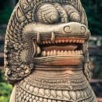 Lion statue on Terrace of the elephants, Angkor Thom, Siemreap — Stock Photo #67522273