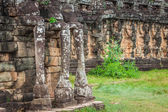 Terrace of the Elephants, Angkor Thom, Siem Reap, Cambodia — Stock Photo