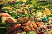 Market produce cambodia local market siem reap — Stock Photo