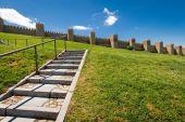 Scenic medieval city walls of Avila, Spain, UNESCO list — Stock Photo