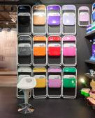 Pantone chairs on display at HOMI, home international show in Milan, Italy — Stock Photo