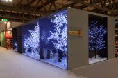 Christmas stand at HOMI, home international show in Milan, Italy — Stock Photo