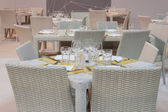 Restaurant table at HOMI, home international show in Milan, Italy — Stock Photo