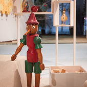 Pinocchio on display at HOMI, home international show in Milan, Italy — Zdjęcie stockowe