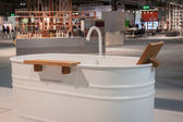 Bath tub on display at HOMI, home international show in Milan, Italy — Stock Photo