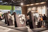 People visiting HOMI, home international show in Milan, Italy — Stock Photo