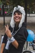 Milano, i̇talya buz ride 2014 katılan insanlar — Stok fotoğraf