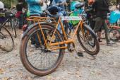 Rower na lodzie jazda 2014 w mediolan, włochy — Zdjęcie stockowe