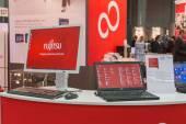 Fujitsu stand at Smau 2014 in Milan, Italy — Stock Photo