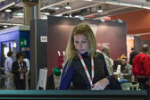 People visiting Smau 2014 in Milan, Italy — Stock Photo